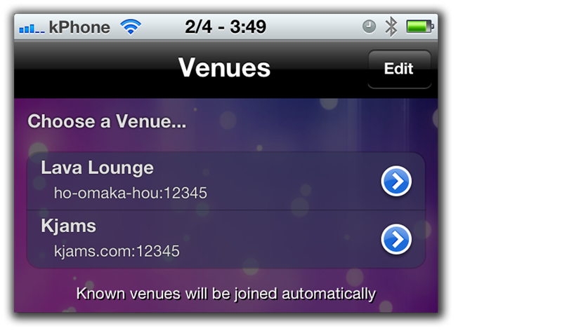 Karaoke iphone IOS app Kjams